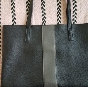 Vince Camuto Luck Black/Grey Vegan Leather Tote